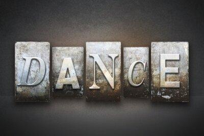Quadro Dança tipográfica