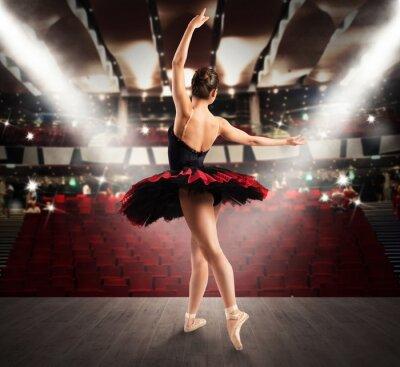 Quadro Dançarino clássico no teatro