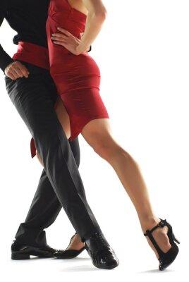 Quadro dançarinos de tango elegnace