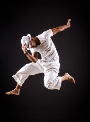Quadro Danças de dança dançarino em roupas brancas
