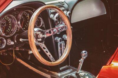 Quadro Dashboard de um carro clássico
