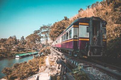 Quadro Death Railway em Kanchanaburi, Tailândia