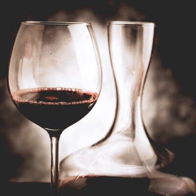 Quadro Degustação de vinho tinto - foto de estilo vintage
