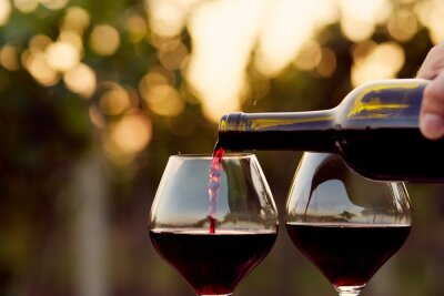 Quadro Derramar o vinho vermelho