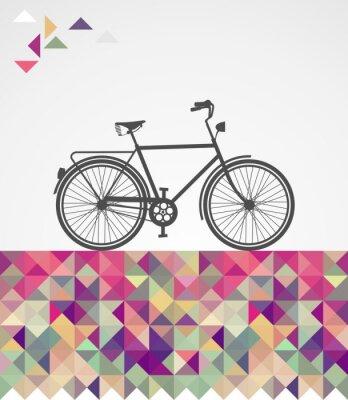 Quadro Descolados Retro bicicleta elementos geométricos.