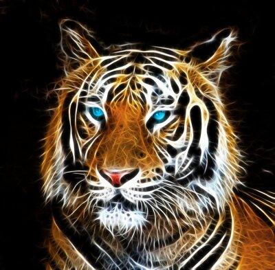 Quadro Desenho de Digitas de um tigre
