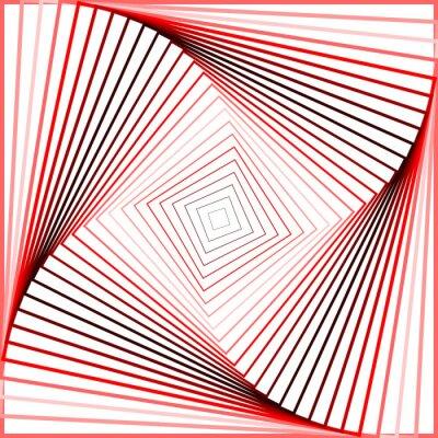 Quadro Design colorido giro ilusão movimento de fundo