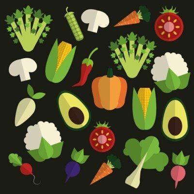 Quadro Design de alimentos orgânicos