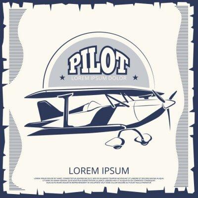 Quadro Design de etiqueta - cartaz vintage avião