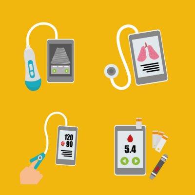 Quadro Design de tecnologia da saúde