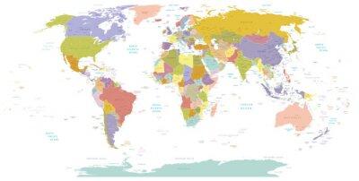 Quadro Detalhe alto Mundial map.Layers usado.