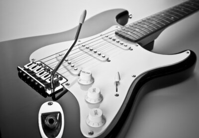Quadro Detalhe da guitarra elétrica