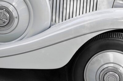 Quadro Detalhe de uma velha carroçaria do carro