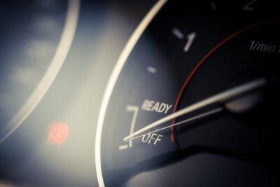 Quadro Detalhe do tacômetro do carro
