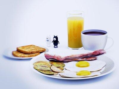 Quadro diavoli alieni uma rendição 3d colazione