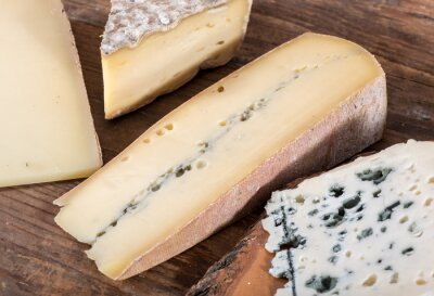 Quadro Diferentes variedades de queijos franceses