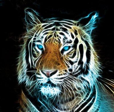 Quadro Digital drawing of a tiger