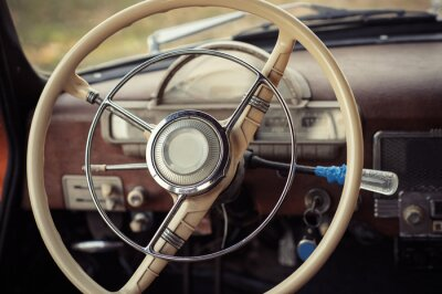 Quadro Dirigindo o carro retro