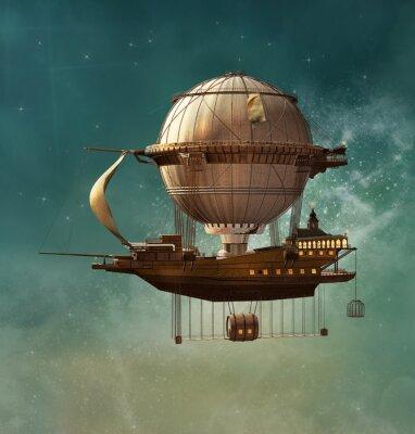 Quadro Dirigível da fantasia de Steampunk