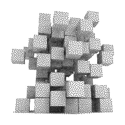 Quadro Dotwork Halftone Vector Boxes Ícone
