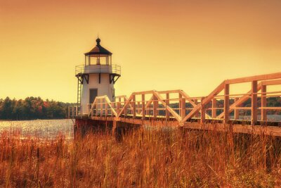 Quadro Doubling Point Lighthouse em Nova Inglaterra