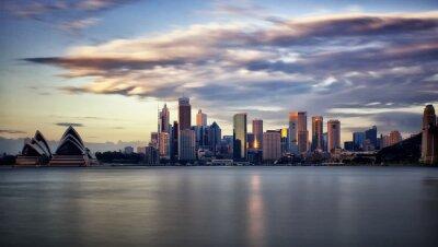 Quadro Downtown Sydney ao nascer do sol