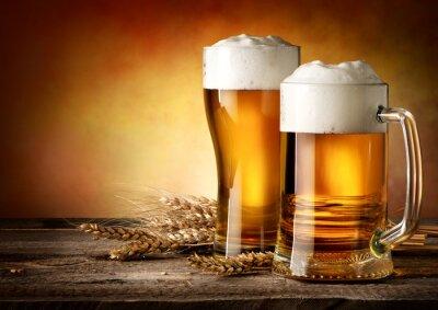 Quadro Duas canecas de cerveja