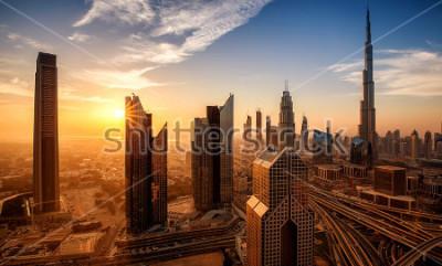 Quadro Dubai ao nascer do sol