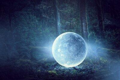Quadro É lua cheia. Meios mistos