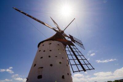 Quadro Edifício clássico do moinho de vento do vintage