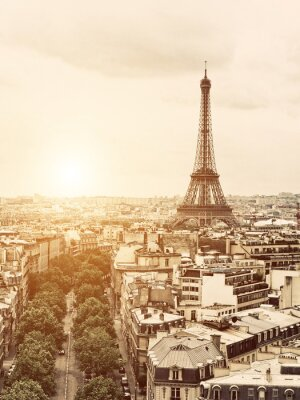 Quadro Eiffel a partir do Arco do Triunfo