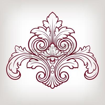 Quadro elemento barroco cor damasco projeto quadro gravura do vintage estilo retro