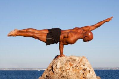 Quadro equilibrar homem forte