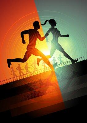 Quadro Equipe Correndo
