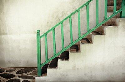 Quadro Escadas sujas com corrimãos