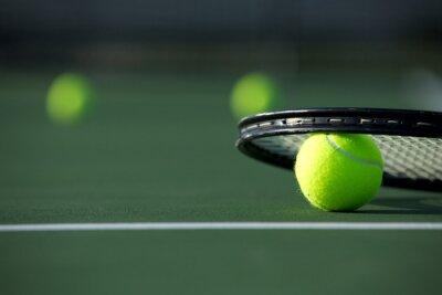Quadro Esfera e raquete