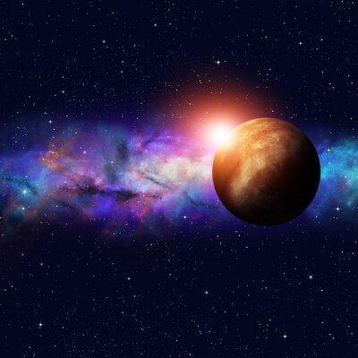 Quadro Espaço Profundo Starfield