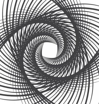 Quadro Espiral, giro, abstratos, fundo, pretas, branca