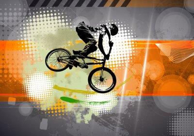 Quadro Esporte, ilustração de BMX