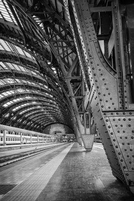 Quadro Estação Central de Milão - binário