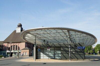 Quadro Estação de ônibus em Herne, North Rhine-Westphalia, Alemanha