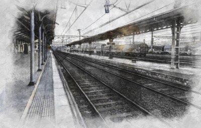 Quadro Estação de trem