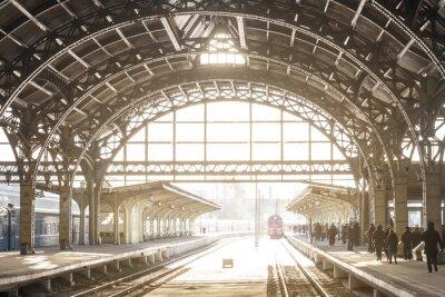 Quadro Estação de trem vintage com telhado de metal