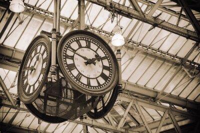 Quadro Estação de Waterloo velho relógio icônico, Londres