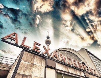 Quadro Estação ferroviária Alexanderplatz, em Berlim - Alemanha