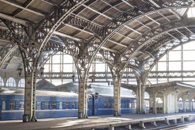 Quadro Estação ferroviária de metal