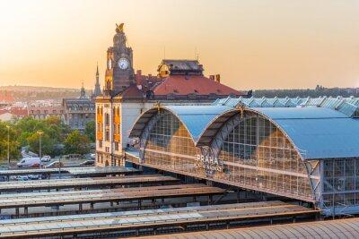 Quadro Estação ferroviária principal de Praga, Hlavni nadrazi, Praga, República Tcheca