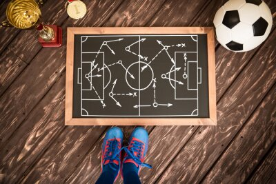 Quadro Estratégia de jogo de futebol