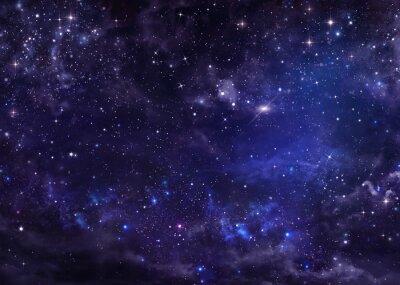 Quadro Estrelado céu noturno profundo espaço