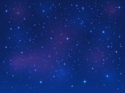 Quadro Estrelas, azul, céu, fundo